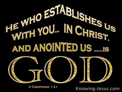 2 Corinthians 1:21 Established in Christ By God (black)